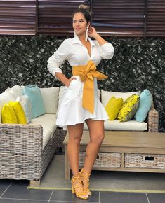 23 Dazzling Fashion Clothes for 2019 - 1 In you want to create a different atmosphere on your mind, but if you are uncertain about the mo. Classy Outfits, Chic Outfits, Trendy Outfits, Casual Dresses, Fashion Dresses, Fashion Clothes, Short Frocks, Dress Skirt, Shirt Dress