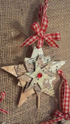 Sheet Music Christmas Star Ornament with por JenniferGinvitations