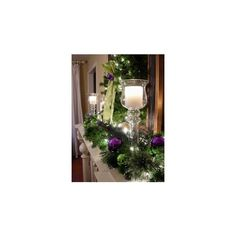 Purple Silver Christmas Wreath ❤ liked on Polyvore featuring home, home decor, holiday decorations, berry wreath, silver ornaments, silver home decor, purple christmas wreath and purple home decor