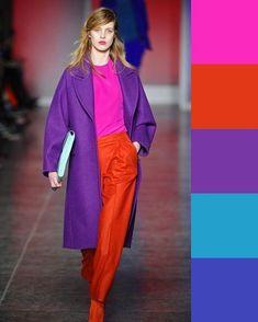 Color combinations for clothes, color combos, color trends, purple outfits, Colour Combinations Fashion, Color Combinations For Clothes, Color Blocking Outfits, Fashion Colours, Colorful Fashion, Blue Color Combinations, Purple Outfits, Colourful Outfits, Colorful Clothes