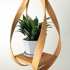 bent wood vintage hanging shelf by HRUSKAA on Etsy