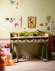 Writing & art desk for the girls.     irenewritingdeskatpaolas