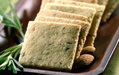Rosemary Crackers recipe made of almond flour. They are delicious paired with olive tapenade or any soft spreadable cheese for a cocktail party. For a simple snack eat with cheddar or jack cheese. Gluten Free Baking, Gluten Free Recipes, Low Carb Recipes, Real Food Recipes, Snack Recipes, Cooking Recipes, Yummy Food, Dinner Recipes, Healthy Recipes