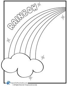 free rainbow activity sheets | Free Printable rainbow coloring page - from ProjectsforPreschoolers ...