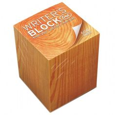 Writer's Block Memo Pad - http://www.findmeagift.co.uk/memo-pads-writers-block.html £5.99  Yup, especially suited to me as a writer! Would be great for jotting those far and few between thoughts!