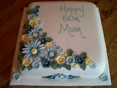 60th birthday cakes with flowers ideas - Yahoo Image Search results