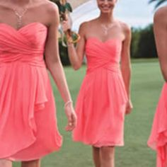 Love the dresses and the color