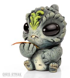 I don't know what it is and it probably grows up to be a scary omnivore of some kind- but it's so cute....  Artist: Chris Ryniak