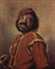 Frans Hals.  Der Mulatte.1627, Öl auf Leinwand, 75,5 × 63,5cm.Leipzig, Museum der bildenden Künste.Genremalerei. Niederlande (Holland).Barock.  KO 00423