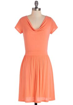 Bright and Charming Dress. Today youve made a homemade lunch for your friends, and as you welcome them into your home, theyre instantly charmed by your orange dress! #coral #modcloth