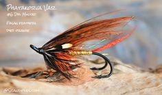 Phatakorva Salmon Fly Variant with Fasan Feather Wing #6 Dbl Mustad - scandiflies.com
