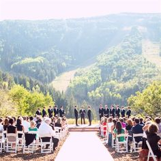 Park City Mountain Resort Ceremony. Ah what a great backdrop for this lovely day.