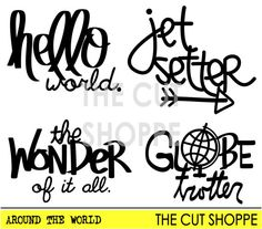 The Around the World cut file includes four by TheCutShoppe, $1.50