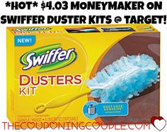 *HOT* MONEYMAKER on Swiffer Dusters Starter Kit @ Target! RUN and print this $2/1 Swiffer WetJet or Dusters Starter Kit Coupon so you can score this HOT MONEYMAKER at Target!   Click the link below to get all of the details ► http://www.thecouponingcouple.com/hot-4-03-moneymaker-on-swiffer-dusters-starter-kit-target/ #Coupons #Couponing #CouponCommunity  Visit us at http://www.thecouponingcouple.com for more great posts!