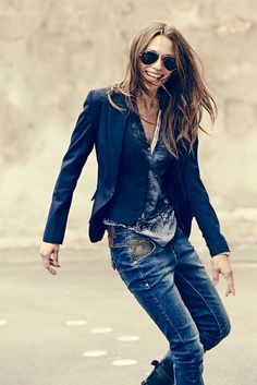 MOS MOSH // Dolce West and Blazer - Nora Placket - Nelly Tinted Jeans
