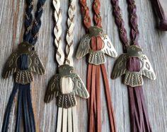 Leather Circle Fringe Tassel Y Choker Latiat от LauraBElements