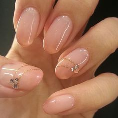 オフィスでもOK!ピンクベージュのキレイめネイルデザイン - Itnail Gold Gel Nails, Beige Nails, Gem Nails, Pedicure Nail Designs, Diy Nail Designs, Pedicure Nails, Colorful Nail Designs, Office Nails, Kawaii Nails