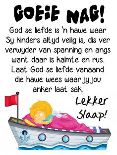 Evening Greetings, Good Night Greetings, Goid Night, Night Night, Goeie Nag, Afrikaans Quotes, Christian Messages, Night Quotes, Poems