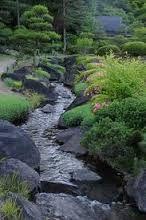 garden water streams - Google Search Backyard Stream, Garden Stream, Rain Garden, Ponds Backyard, Water Garden, Dream Garden, Stream Bed, Lawn And Landscape, Landscape Design