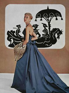 gown 1953 l'officiel de la mode 1953 gown Pierre Balmain