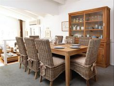 Dining Room Designs: Teak Dining Set Furniture Rattan Chairs Wooden Dining Table, Sustainable Hardwood, Sophisticated Design ~ PofiDIK.com