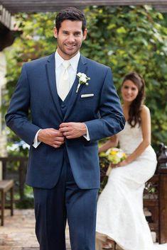 Newest Groom Tuxedo Groomsmen Blue tuxedos best mens suits Best Man Bridegroom (Jacket+Pants+Vest)men blazer dress Blue Tuxedo Wedding, Wedding Groom, Wedding Suits, Wedding Tuxedos, Wedding Dress, Wedding Flowers, Prom Tuxedo, Wedding Colors, Slim Fit Tuxedo