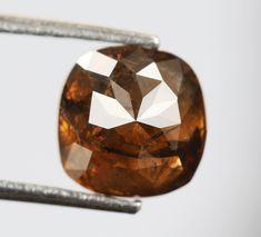 1.11 Ct, 6.1 X 6.0 X 3.6 MM, Cushion Shape Champagne Color Natural Loose Beautiful Diamond, Sparkling Diamond, Antique Diamond Ring, R610 by RusticDiamondWorld on Etsy