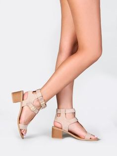 Qupid KIRBY-06 T-Strap Chunky Low Heel Sandal $31.00 - $36.00