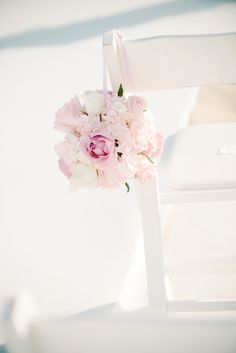 Beach Wedding In Pink And White