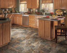 Dazzling Classic Grey Color Natural Style Vinyl Kitchen Floor ...