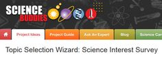 Website that helps the kids pick a science fair topic they would be interested in. Has a survey, then suggests question based on interests. Science Fair Topics, Mad Science, Science Fair Projects, Science Resources, Science Lessons, Science Activities, Science Experiments, Science Ideas, Interest Survey