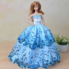 Blue Dress Party Gown Barbie