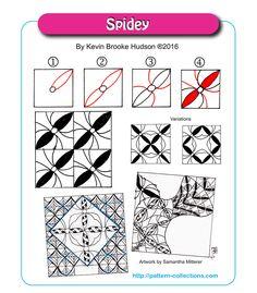Spidey tangle pattern  by Kevin Brooke Hudson