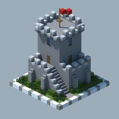 A most fortified tower : Minecraft Casa Medieval Minecraft, Villa Minecraft, Construction Minecraft, Minecraft Building Guide, Minecraft Structures, Minecraft Plans, Minecraft Room, Minecraft House Designs, Minecraft Tutorial