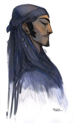 phobs-heh: #my art #teb-tengri #creepy shaman controls my life