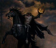 Headless Horseman of Sleepy hollow - Bing Images Diy Halloween, Happy Halloween, Halloween Vintage, Halloween Artwork, Halloween Magic, Halloween Painting, Halloween Pictures, Halloween Horror, Halloween Rocks