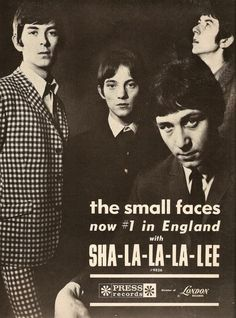 The Small Faces. The group was founded in 1965 by members Steve Marriott, Ronnie Lane, Kenney Jones, and Jimmy Winston, although by 1966 Winston was replaced by Ian McLagan as the band's keyboardist. Rock Posters, Concert Posters, Music Posters, Rock N Roll, Mod Music, Music Radio, Hard Rock, Faces Band, Steve Marriott