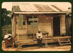 Fish store near Natchitoches, Louisinia, 1940