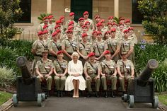 Camilla, Duchess of Cornwall, appointed as the Colonel-In-Chief of the Royal Australian Corps of the Military Police poses with members of the Royal Australian Corps of the Military Police at the Victoria Barracks on November 12, 2015 in Sydney, Australia. The Royal couple are on a 12-day tour visiting seven regions in New Zealand and three states and one territory in Australia.