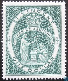 Saint Vincent - Queen Elizabeth II Coronation Stamp 1955