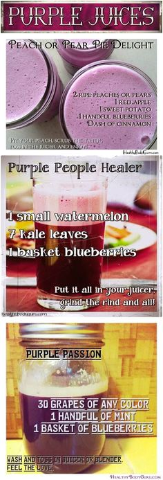 Purple Juices drink recipes healthy food smoothie recipes healthy foods healthy living vegetable smoothies juicing juicing recipes