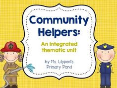 Community helpers unit!  Complete lesson plans, printable emergent books for guided reading, centers materials, graphic organizers, and tons of resources. $