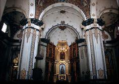 ARTE: Santuario de la Virgen del Pueyo :interior e imagen gótica de la Virgen del Pueyo (Belchite,Zª,Aragón)