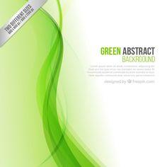 Fondo abstracto verde Vector Gratis