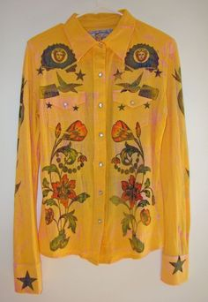 Very Rare BUTTERFLY DROPOUT Rockabilly Native American Western Shirt  Sz: M #ButterflyDropout #Western #Casual