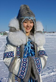 (Yakut people) Yakutia beautiful girl. Siberia, Russia.