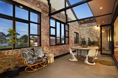 "ITN Architects - The Abbotsford Warehouse Apartments I really love when warehouses and old buildings are ""re-purposed""!.... that brick is amazing"