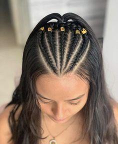 Cute Hairstyles For Teens, Cool Braid Hairstyles, Baddie Hairstyles, Teen Hairstyles, Casual Hairstyles, Short Wavy Hair, Braids For Long Hair, Medium Hair Styles, Curly Hair Styles