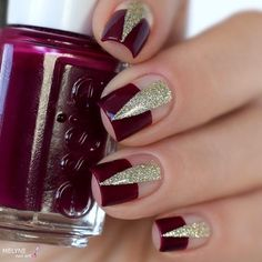 Negative Space red nail