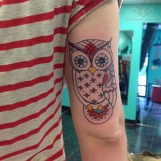 colorful owl tattoos - Google Search